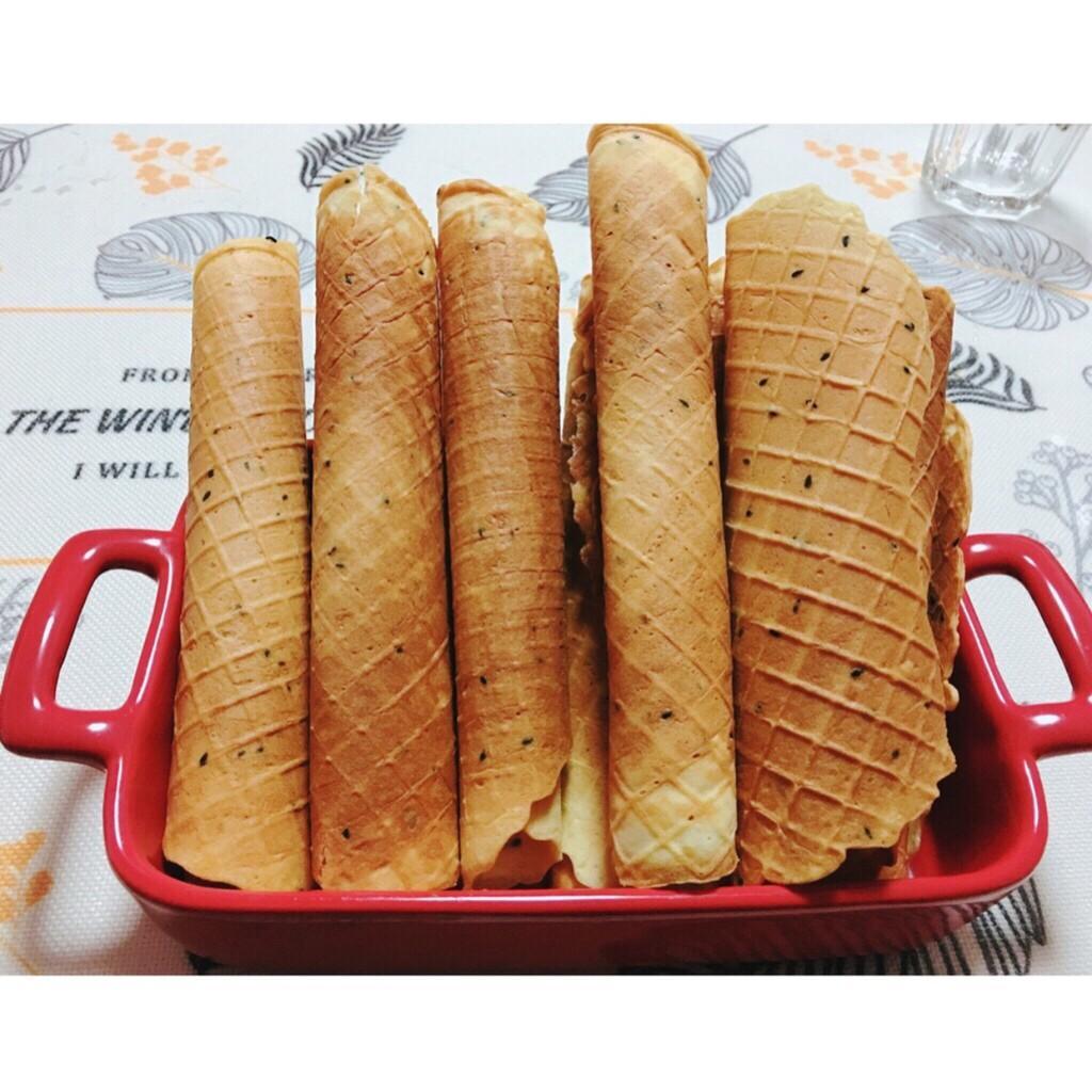 bánh quế làm từ bột mì