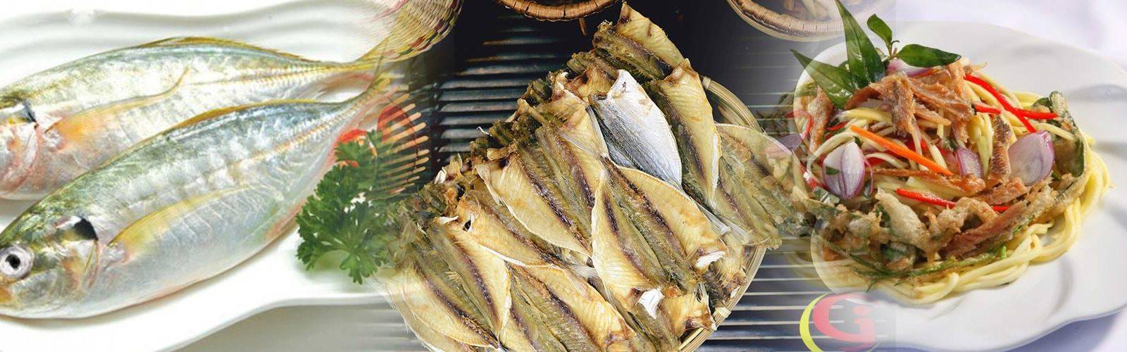 gỏi xoài cá khô với cá chỉ vàng