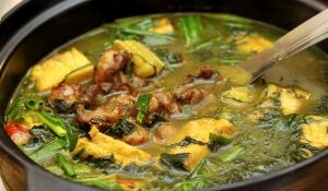 Món ếch xào lá lốt và cách nấu ếch chuối đậu